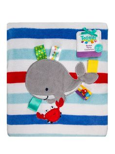 Baby Plush Blanket 2 Ply Printed Elephant by Taggies
