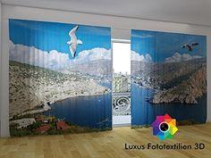 """Fotogardine 3D """"Krym"""" Foto-Vorhang Gardine Vorhänge in Lu... https://www.amazon.de/dp/B01HZYUFM6/ref=cm_sw_r_pi_dp_vHlFxbHENZZXH"""