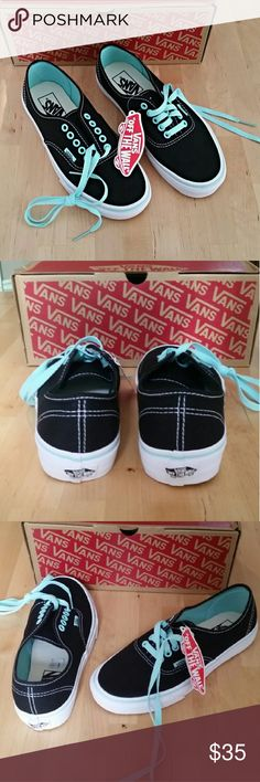 Vans Classics Black and Mint Black and Mint Vans Classics women's size 8. Brand new with box. Vans Shoes Sneakers