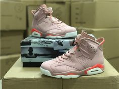 011b7090481272 Aleali May Air Jordan 6 Millennial Pink Rust Pink Bright Crimson 2019-1