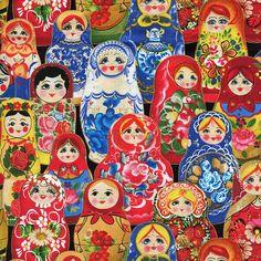 Odessa Russian Nesting Dolls Elizabeth's by TheFabricPalette