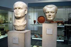 Father Vespasian and son Titus, both Emperors of the Roman Empire. Find out more about them at RomeAcrossEurope.com