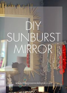 DIY Modern Sunburst Mirror