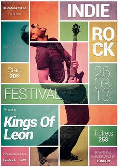35 Amazing Gig Poster/Flyer Templates