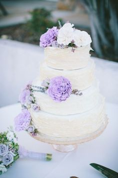 The Loveliest Lavender Wedding Ideas You Should See - wedding cake idea; Jae Photo & Design