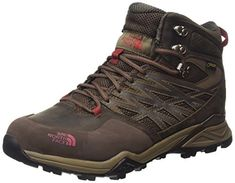 The North Face Hedgehog Hike Mid GTX Mens Weimaraner BrownRosewood Red 12H *** You can get additional details at the image link. (This is an affiliate link) #HikingFootwear