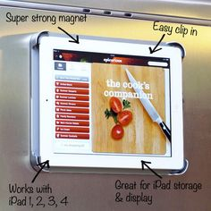 We have one of these for an old iPad 1, it's brilliant!  FridgePad for iPad