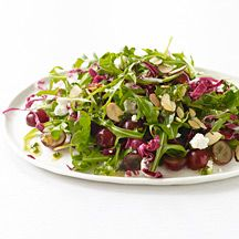 Image of  Spring Greens with Grapes, Goat Cheese and Champagne Vinaigrette