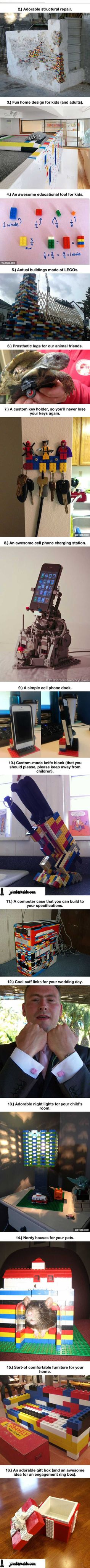 joindarkside » 16 Awesome Uses For LEGO You Never Thought Of
