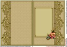 Autumn Roses Lace Border A5 Matching Insert  on Craftsuprint designed by Sandie Burchell - Beautiful A5 Insert. There is also a Matching Decoupage Sheet for this design please see related sheets. To see more of these designs click on my name and type lace border into my search box and sort newest first. Please take a look at my other designs by clicking on my name. - Now available for download!