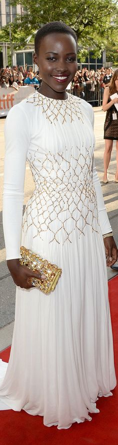 Lupita Nyong'o in Prada at the Toronto Film Festival makes a case for wearing formal white to somewhere other than your wedding