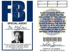 X-Files: Special Agent Fox Mulder badge by LieutenantGordon
