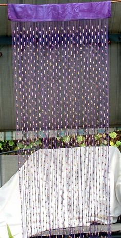 I need to figure out how to make these. #curtain #beads #beaded #decor