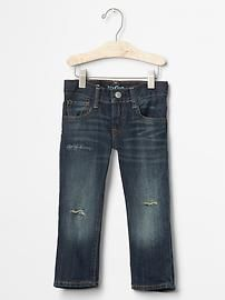 Size 4 1969 destructed straight jeans