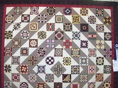 farmer's wife quilt setting blocks on point....alternating triangle setting fabric