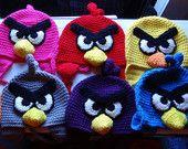 Angry Bird Crochet Beanie