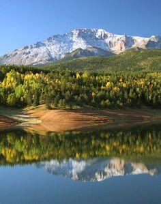 Pikes Peak Reflection in Crystal Creek Reservoir. Enough said.