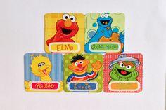 Sesame Street Refrigerator Magnets, Party Favors, 5 Fridge Magnets Set, Home Decor, Elmo Big Bird Cookie Monster Ernie Oscar the Grouch by EverydayWomenJewelry on Etsy https://www.etsy.com/listing/261673351/sesame-street-refrigerator-magnets-party
