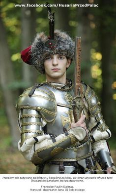 Polish hussar Medieval World, Medieval Armor, Medieval Fantasy, Types Of Armor, Thirty Years' War, Templer, Knight Armor, Suit Of Armor, Arm Armor