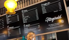 The Fitzgerald Burger Company. Hand drawn lettering logo e identidad global. : Pixelarte Creatividad