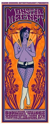 Purchase the 2002 Monster Magnet/Burning Brides Philly Show Poster from Zen Dragon Gallery by Darren Grealish & Jeff Wood for Drowning Creek Studio Rock Posters, Band Posters, Concert Posters, Music Posters, Event Posters, Gig Poster, Character Illustration, Illustration Art, Illustrations