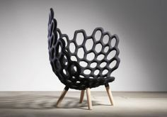 "Armchair ""endosquelette"" style = designed by Studio Hausen in Berlin"