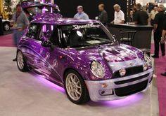 Ok this is my favorite mini coop. Purple Love, All Things Purple, Purple Cars, Purple Stuff, Mini Cooper Clubman, Mini Cooper S, Cooper Countryman, Girly Car, Morris Minor