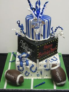 colt cakes images | This cake was for Indianapolis Colts player Reggie Wayne. The ...