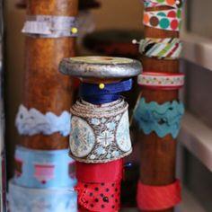 Neat bobbin ribbon organization