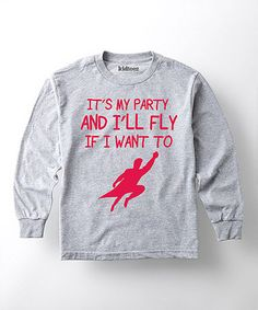 Heather Gray 'I'll Fly if I Want To' Tee - Toddler & Kids #zulily #zulilyfinds