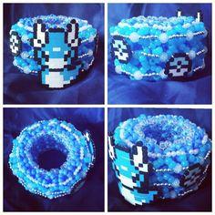 How to make an epic Kandi cuff - kandi bracelets Kandi Mask, Kandi Cuff, Kandi Bracelets, Pony Bead Patterns, Kandi Patterns, Beading Patterns, Stitch Patterns, Raves, Rainbow Choker