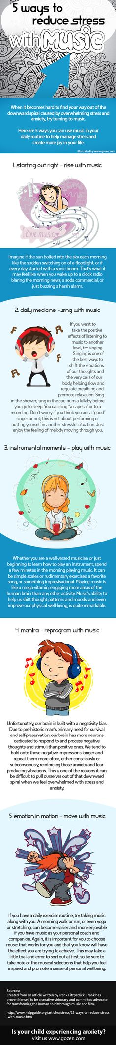 5 Ways to Reduce Stress and Anxiety with Music - Subscribe to my blog at: http://lifeslearning.org/ I provide HIPPA compliant Online (face-to-face) Counseling. Schedule at: https://etherapi.com/therapist/suzanne-apelskog Twitter: @sapelskog. Counselors, FB page: Facebook.com/LifesLearningForCounselors Everyone, FB: www.facebook.com/LifesLearningForEveryone