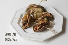 Simply Cooked: Baklazhan: Georgian Eggplant and Walnut Appetizers