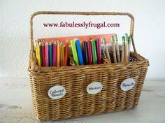 Organizing the craft room desk!