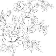 Red rose in cartoon style for tattoo design Vector illustration ...