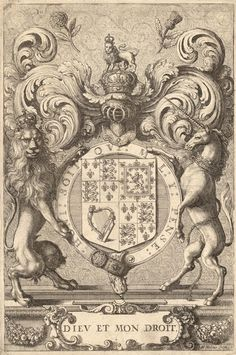 English royal arms, 'Arms of knights of the Garter', Wenceslas Hollar, 1672-1677.