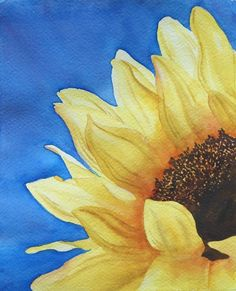 Sunflower looking up at sky | Art Tutor