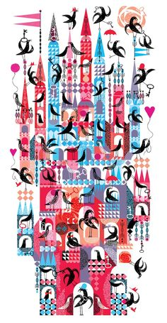 Lesley Barnes via Gems: Illustrated Architecture