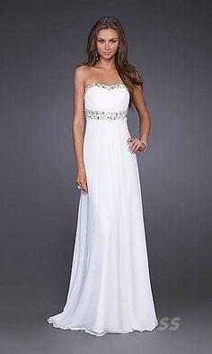 Cute A-Line Tube Sleeveless Empire Evening Dresses Sale bzdress3364