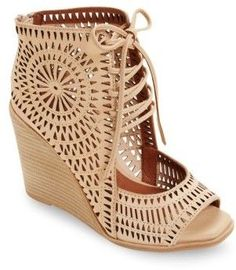 Jeffrey Campbell Rayos Perforated Wedge #sandals