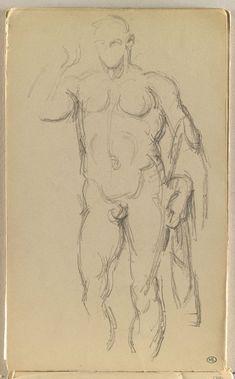 Inventaire du département des Arts graphiques - Statue antique représentant Octave - CEZANNE Paul
