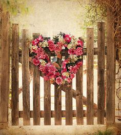 Heart of Flowers on Gate ~