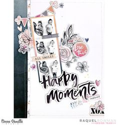 Photo Layouts, Scrapbook Page Layouts, Scrapbook Pages, Scrapbooking Ideas, Draw On Photos, Scrapbook Journal, Star Designs, Happy Moments, Sweet Life
