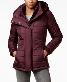 "Winter coats we need: Macy's ""Rampage Hooded Quilted Puffer Coat"""