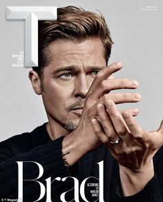 Candid: Brad Pitt, 52, shared his insights on Republican presidential candidate Donald Trump in The New York Times' T magazine