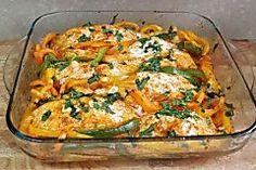 פילה סלמון בתנור עם פלפלים