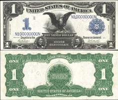 US 1 Dollar Note Series 1899 Serial# N100000000N (Unusual Serial Number) Signatures: Parker / Burke Eagle Portraits: Abraham Lincoln & Ulysses S. Grant