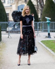 """1,548 Likes, 9 Comments - The Styleograph (@thestyleograph) on Instagram: """"@karliekloss during #pfw 