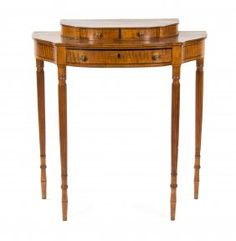A Sheraton Tiger Maple Dressing Table, 19TH CENTURY