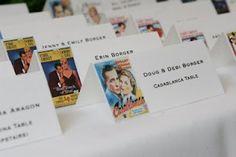 @Kimberly Kuhn ooooo cute! movie titles instead of movie stars. Choose classic romantic movies